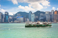 Famous ferry on Victoria harbor in Hong Kong Royalty Free Stock Photography