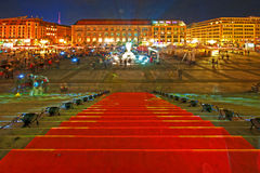 Festival of Lights. Famous Festival of Lights in Berlin Royalty Free Stock Photography