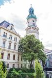 Famous Fire tower in Sopron, Hungary. Travel destination. Architectural theme Royalty Free Stock Photography