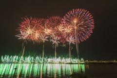 Famous firework show of dadaocheng Stock Image