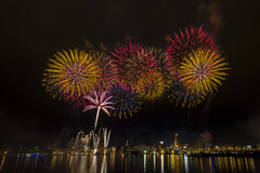 Famous firework show of dadaocheng Stock Images