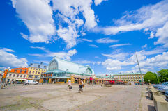 Famous fish market in downtown Gothenburg Royalty Free Stock Photo