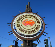 Famous Fisherman Wharf sign. Stock Photos