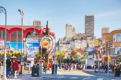 Famous Fishermans Wharf of San Francisco Stock Photography