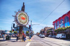 Famous Fishermans Wharf of San Francisco Royalty Free Stock Photography