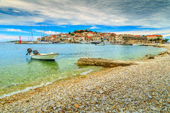 Famous fishing village panorama,Primosten,Dalmatia,Croatia,Europe Stock Images