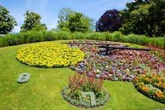 Famous flower clock, Geneva, Switzerland Royalty Free Stock Photo