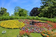 Famous flower clock, Geneva, Switzerland Royalty Free Stock Photography
