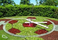 Famous Flowers clock in Geneva Stock Photo
