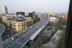 Famous  flyover in Kolkata, India. stock image