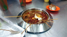 Famous food of Melaka - Satay Celup Royalty Free Stock Photography