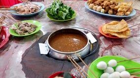 Famous food of Melaka - Satay Celup Stock Photos