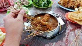 Famous food of Melaka - Satay Celup Stock Photo