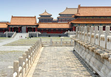 Famous forbidden city in Beijing, China Royalty Free Stock Photo