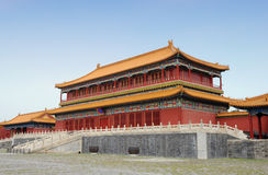 Famous forbidden city in Beijing, China Stock Image