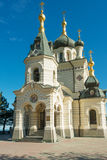Famous Foros church in Crimea. Famous Church of Christ's Resurrection in Foros near Yalta, Crimea stock photo