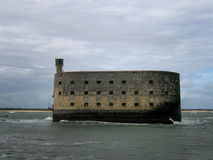Famous Fort Boyard island, France Royalty Free Stock Photography