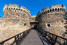 Famous fortress Kalemegdan in Belgrade. Serbia Royalty Free Stock Photo