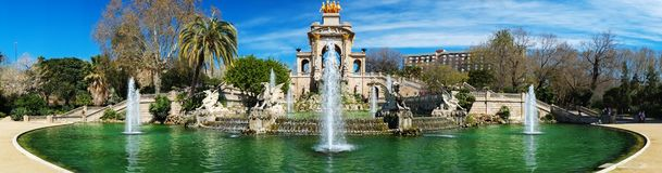 Famous fountain in Barcelona Stock Photography