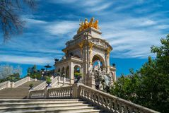 Famous fountain in Barcelona Royalty Free Stock Image