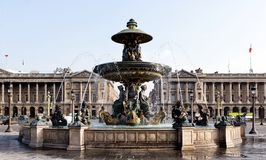 Famous Fountain on Concord square. In Paris Stock Photography