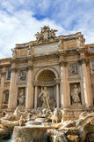 Famous fountain di Trevi in Rome, Italy Stock Photos