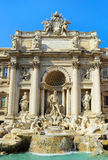 Famous Fountain di Trevi in Rome Stock Photos