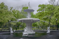 Famous Fountain at Forsyth Park stock image