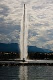 Famous fountain Jet D'Eau Stock Image