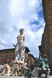 The famous fountain of Neptune on Piazza della Signoria in Florence, Italy Stock Photo