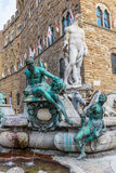 Famous Fountain of Neptune on Piazza della Signoria in Florence Royalty Free Stock Image