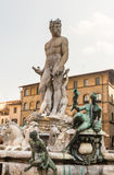 The famous fountain of Neptune on Piazza della Signoria Royalty Free Stock Photography