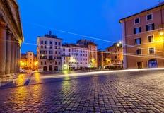 Rome. Fountain on Rotunda Square. Royalty Free Stock Photo
