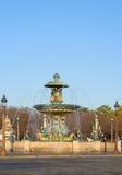 Famous fountain on Plac de la Concorde, Paris Royalty Free Stock Photography