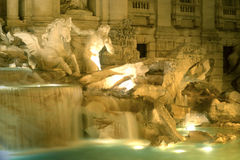 Famous Fountain Rome Italy Touristic Place Building Royalty Free Stock Photo