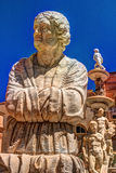Famous fountain of shame on baroque Piazza Pretoria, Palermo, Sicily. Beautiful sculpture of the famous fountain of shame on baroque Piazza Pretoria, Palermo Stock Image