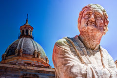 Famous fountain of shame on baroque Piazza Pretoria, Palermo, Sicily Royalty Free Stock Images