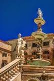 Famous fountain of shame on baroque Piazza Pretoria, Palermo, Sicily Stock Photos