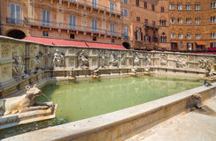 The famous fountain of Siena. Italy Royalty Free Stock Photography