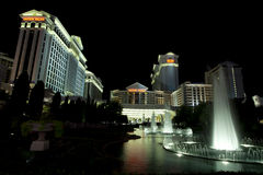 The famous fountains at Caesars Palace Casino and hotel in Las Vegas Nevada Royalty Free Stock Images