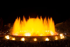 Famous fountains in the Plaza of Spain. Barcelona Stock Images