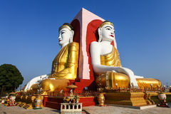 Famous four Buddhas of Kyaikpun Pagoda, Bago, Myanmar, Asia Stock Photos