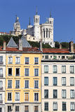Famous Fourviere basilica and building Royalty Free Stock Photography