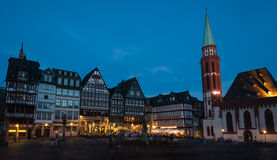 Famous Frankfurt city Romerberg square in Germany Royalty Free Stock Images