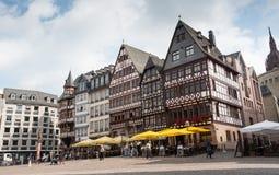 Famous Frankfurt Romerberg square Royalty Free Stock Images