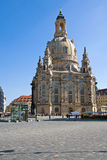 The famous Frauenkirche in Dresden Stock Images