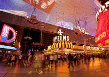 Famous Fremont Street Nightlife in Las Vegas, Navada Stock Photography