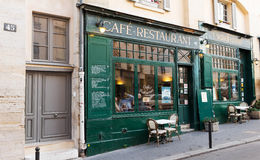 The famous french cafe Gaudeamus,Paris, France. Royalty Free Stock Photography