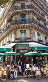 The famous French cafe Les deux magots, Paris, France. Stock Images