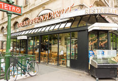 The famous French cafe Sarah Bernardt, Paris, France. stock photography